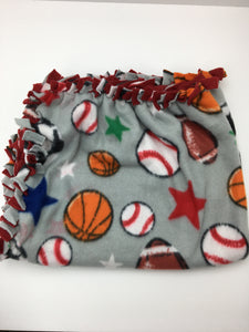Sports Blanket with Red Back