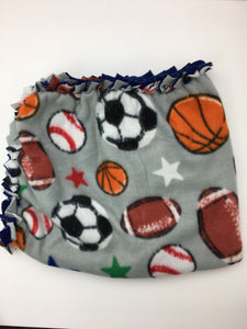 Sports Blanket with Blue Back