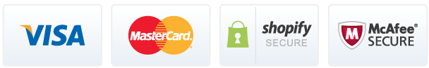 Visa Mastercard Shopify Macafee secure badge