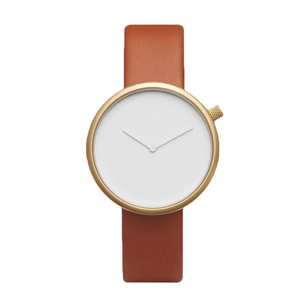 Slim Leather Straps Wrist Watch