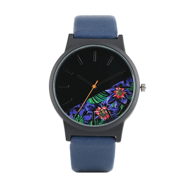 Tropical Blossoms Print Watch
