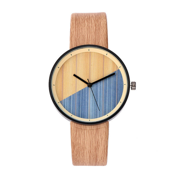 Geometric Colour Stained Wood Grain Watch