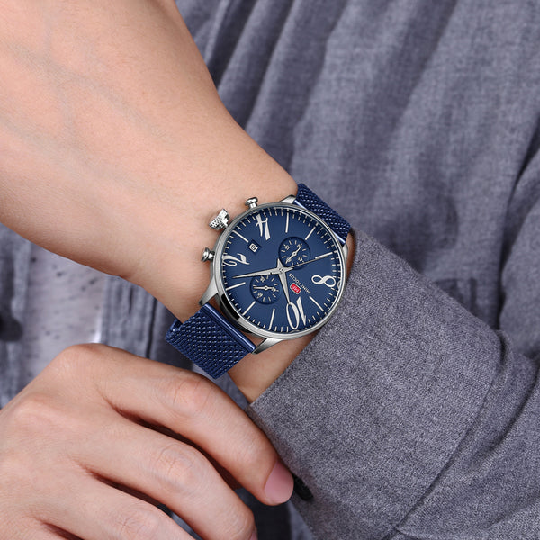 Modern Classical Chronograph Watch