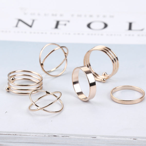Dainty Modern Ring Set