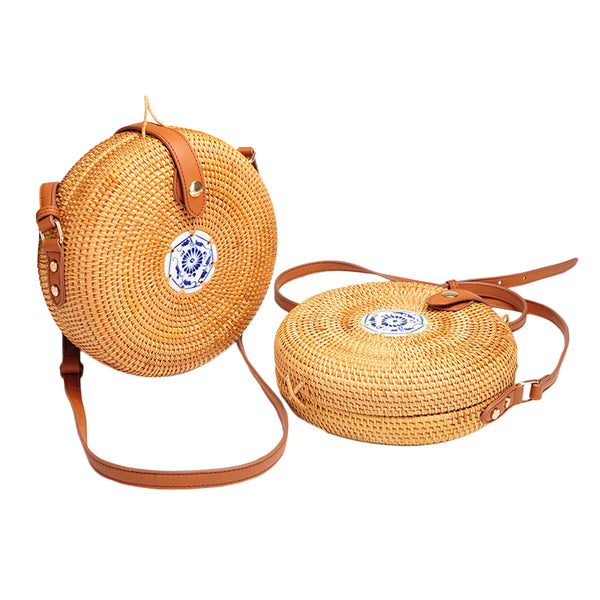 Rattan Knitting Bag