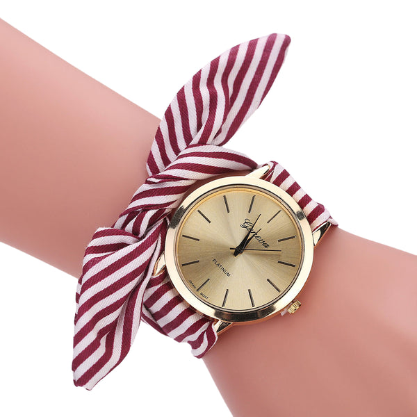Dainty Fabric Strap Watch