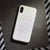 White Embossed iPhone Case