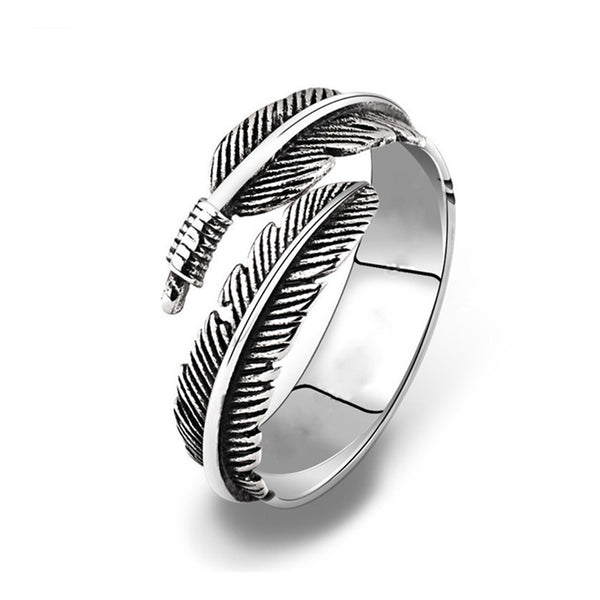 Resizable Feather Band Ring