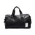 Black PU Leather Weekend Bag