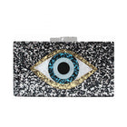 Glitter Eye Acrylic Box Clutch