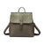 Snake Embossing Faux Leather Convertible Backpack
