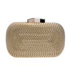 Vintage Metallic Knitted Clutch