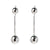 Metal Beads Long Drop Earrings