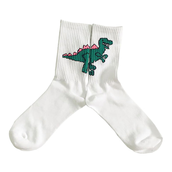 Dinosaur And Gun Socks | Unisex