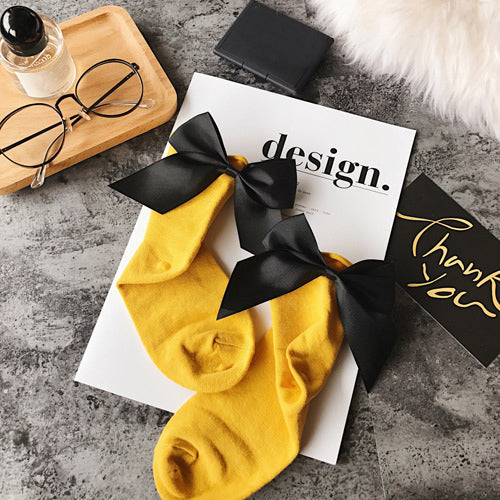 Fashionable Women Bow Socks