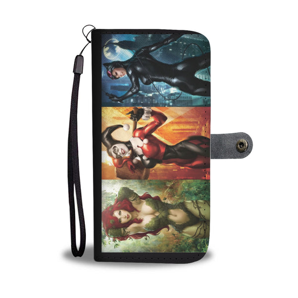 LADY VILLANS OF DC COMICS CELL PHONE WALLET CASE