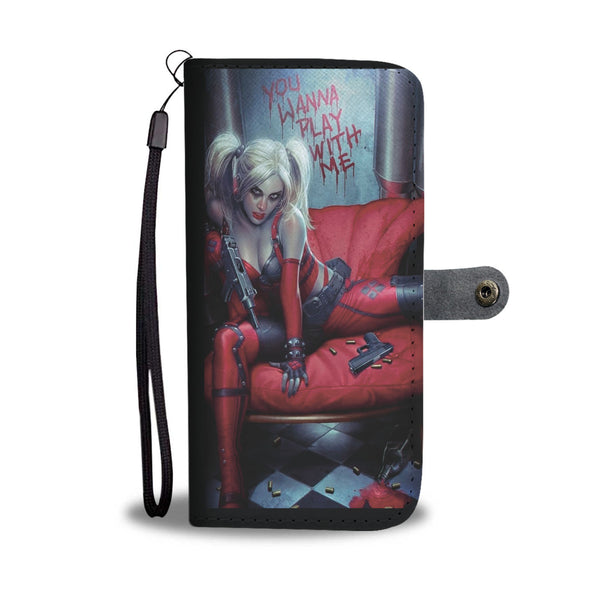 DC COMICS HARLEY QUINN CELL PHONE WALLET CASE FOR SELECT MOBILE PHONES