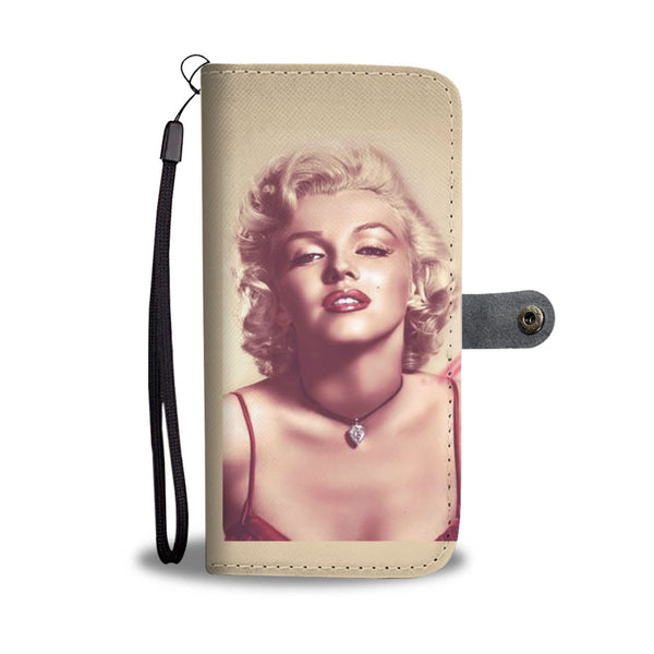 ELEGANT MARILYN MONROE CELL PHONE WALLET CASE FOR SELECT MOBILE PHONES