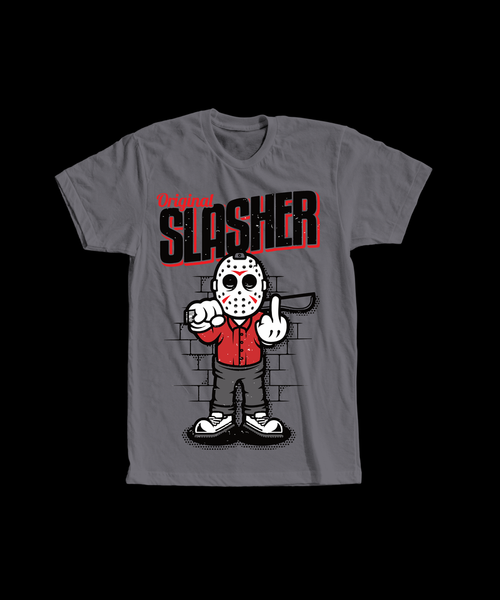 ORIGINAL SLASHER JASON MIDDLE FINGER TATTOO ART QUALITY SHIRT