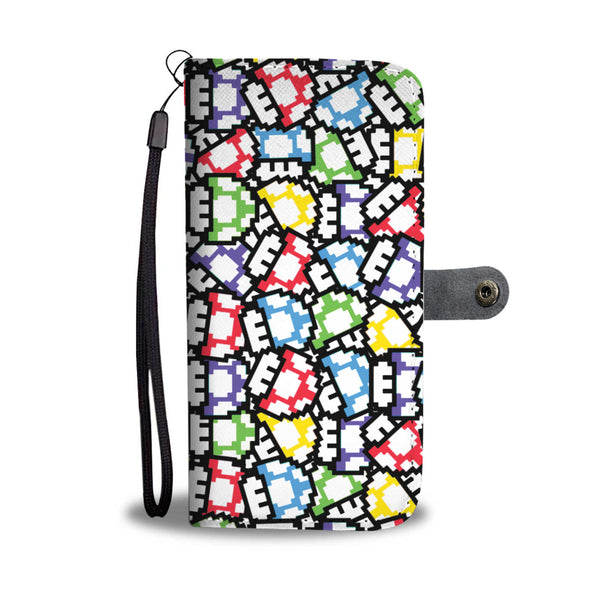 POWER UPS RETRO GAMING PHONE WALLET CASE