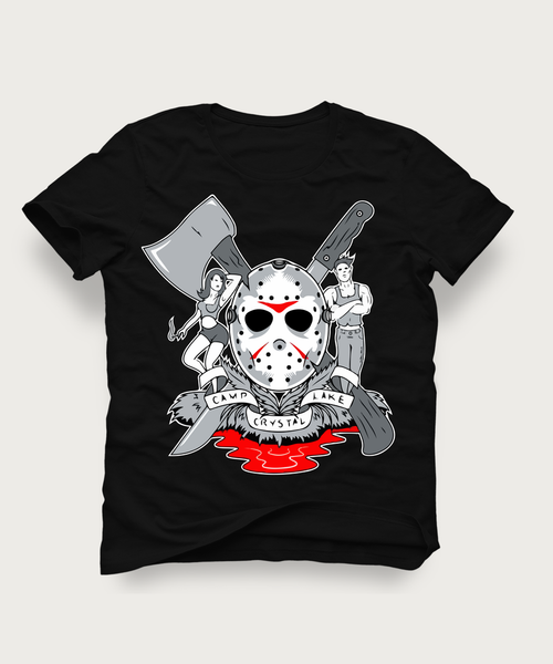 CRYSTAL LAKE JASON TATTOO ART QUALITY SHIRT