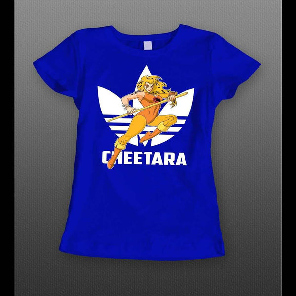 LADIES STYLE SPORTS WEAR MASHUP THUNDERCAT CHEETARA CUSTOM ART SHIRT - Old Skool Shirts