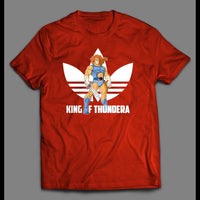 KING OF THUNDERA SPORTS WEAR PARODY THUNDERCATS SHIRT - Old Skool Shirts