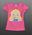 ALICE IN NOSE CANDYLAND LADIES SHIRT
