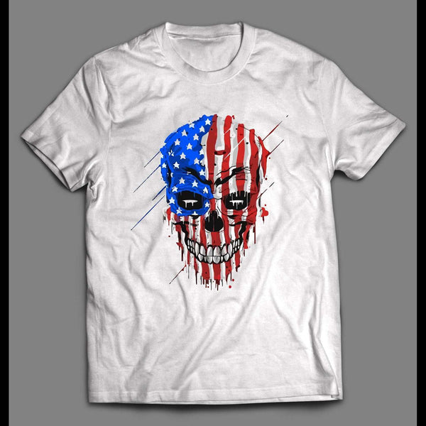 AMERICAN BADASS SKULL HIGH QUALITY SHIRT