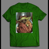 STAR BABY ALIEN MIDDLE FINGER MOVIE SHIRT - Old Skool Shirts