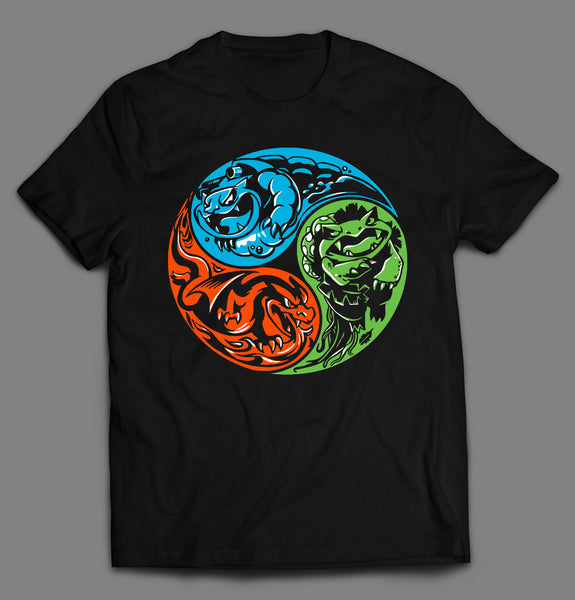 YING YANG BALANCE OF POWER POKE MONSTER DRAGONS SHIRT