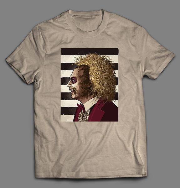 BEETLEJUICE MOVIE MUGSHOT STYLE ART HALLOWEEN SHIRT