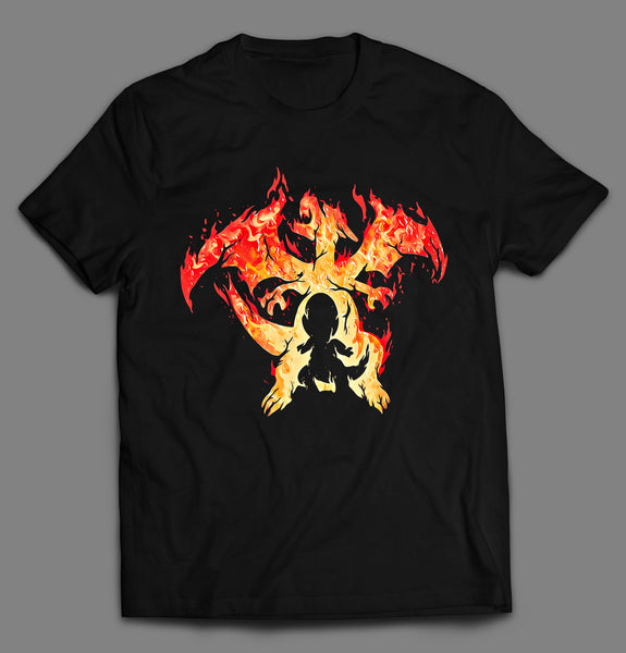 FIRE BLAZE POKE MONSTER DRAGON CARTOON SHIRT