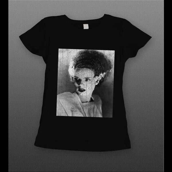 VINTAGE BRIDE FRANKENSTEIN HALLOWEEN DISTRESSED LADIES SHIRT