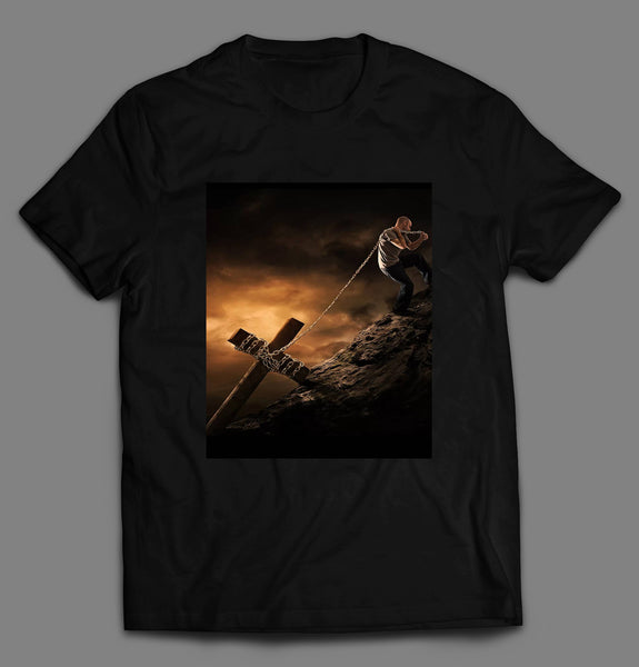 TAKE UP YOUR CROSS AND FOLLOW ME CHRISTIAN ART SHIRT