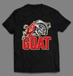 YOUTH SIZE CHARGING GOAT #12 TB FOOTBALL CHAMPIONSHIP QUALITY SHIRT