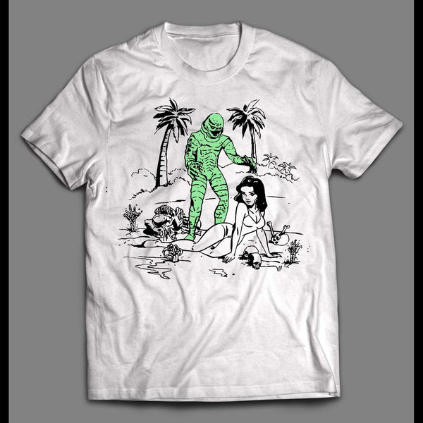 CREATURE FROM THE BLACK LAGOON INK ART HIGH QUALITY SHIRT