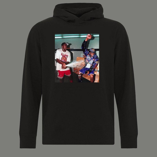 GOATS HOF MJ AIR & MAMBA KB CHAMPAGNE SHOWERS FINALS QUALITY HOODIE