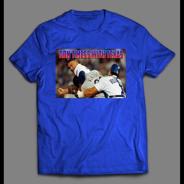 DON'T MESS WITH TEXAS NOLAN RYAN ROBIN VENTURA FIGHT SHIRT - Old Skool Shirts