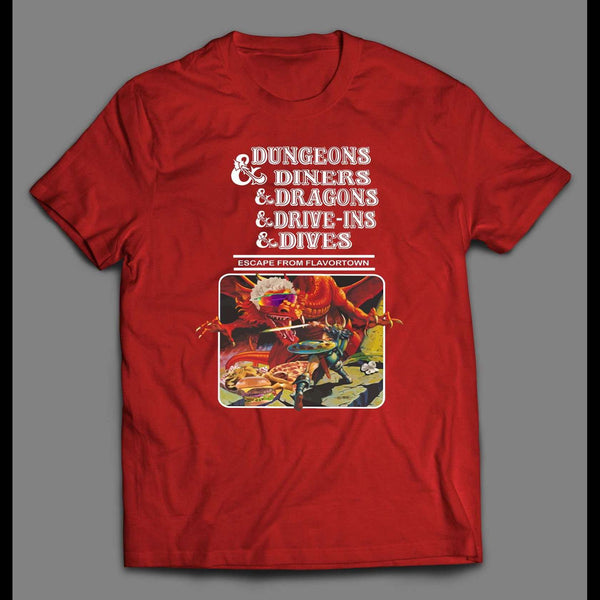 DUNGEONS AND DINERS ESCAPE FROM FLAVORTOWN MEN'S SHIRT