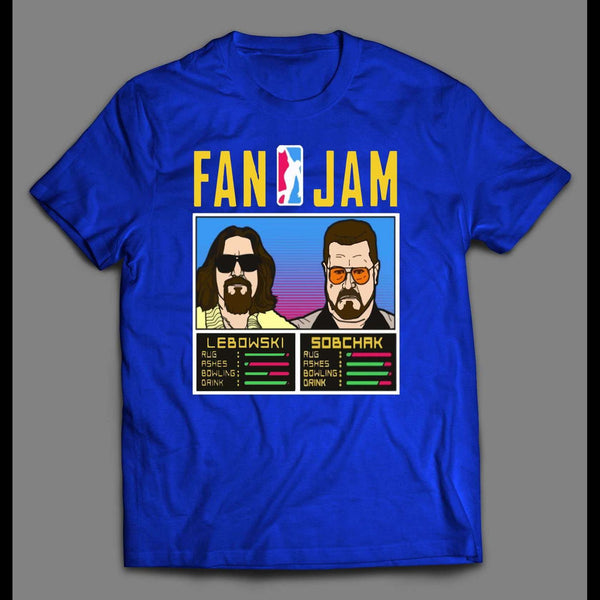 "THE BIG LEBOWSKI ""FAN JAM"" VIDEO GAME PARODY MOVIE T-SHIRT"