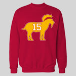 THE GOAT #15 FOOTBALL CHAMPIONSHIP QUALITY HOODIE / SWEATSHIRT