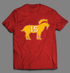 THE GOAT #15 FOOTBALL CHAMPIONSHIP QUALITY SHIRT