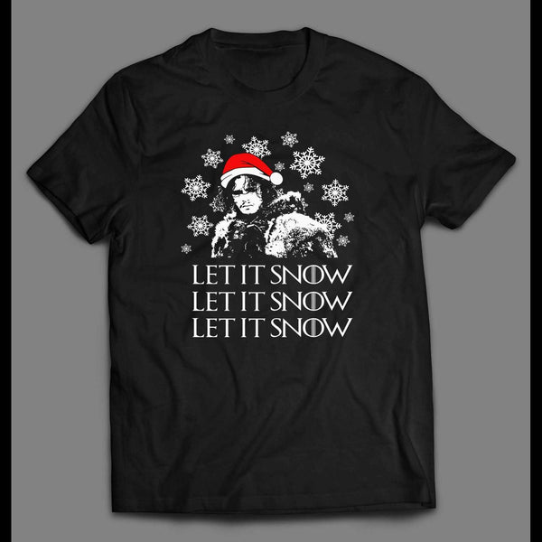 G.O.T PARODY LET IT SNOW CHRISTMAS HOLIDAY T-SHIRT - Old Skool Shirts