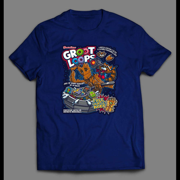GROOT LOOPS MARVEL CEREAL PARODY SHIRT