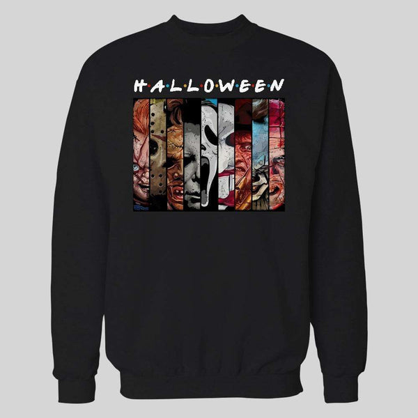 HORROR MOVIE KILLERS FRIENDS PARODY HALLOWEEN HOODIE / SWEATER