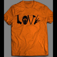 HORROR MOVIE LOVE CUSTOM OLDSKOOL ART FULL FRONT PRINT HALLOWEEN SHIRT - Old Skool Shirts