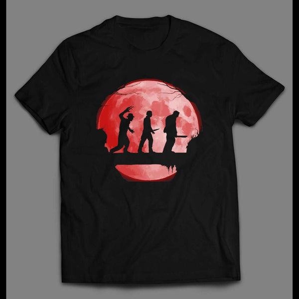 HORROR MOVIE KILLERS GAME BLOOD MOON HALLOWEEN SHIRT
