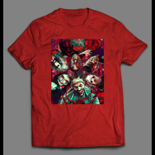HORROR MOVIE KILLERS GAME PSYCHODELIC PAINTING HALLOWEEN SHIRT