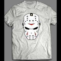 IRON HOCKEY MASK SUPER HERO PARODY HALLOWEEN SHIRT - Old Skool Shirts